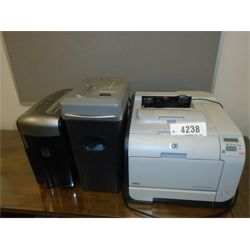 HP CP2025 PRINTER W/ SHREDDERS