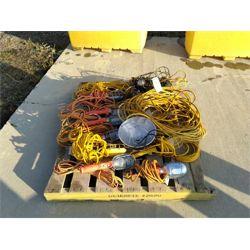 extension cords, drop lights