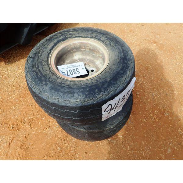 (2) 18.5x8.50-8 tires & rims