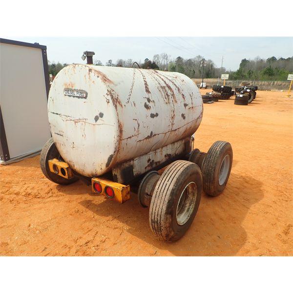 500 gallon fuel storage tank mtd on trailer