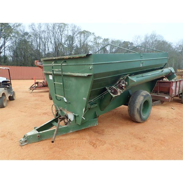 BJM  14' grain hopper w/ auger side discharge