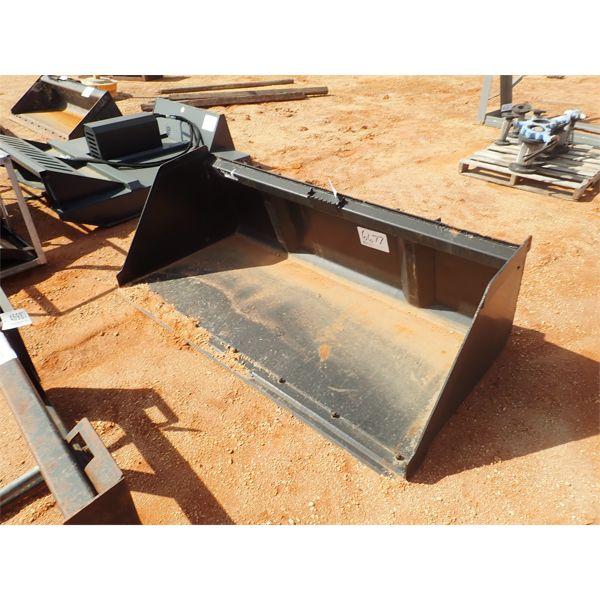 "80"" bucket, fits skid steer loader"