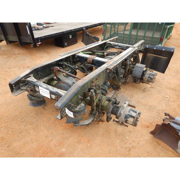 partial truck frame with dual axles
