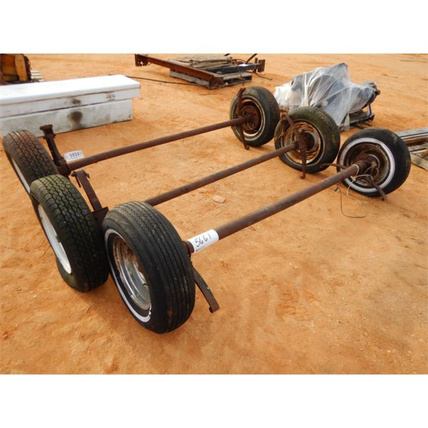 (3) 8' trailer axle