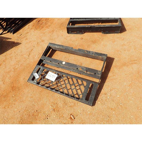 fork attach frame, fits skid steer loader