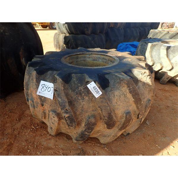 28L-26 skidder tire w/rim