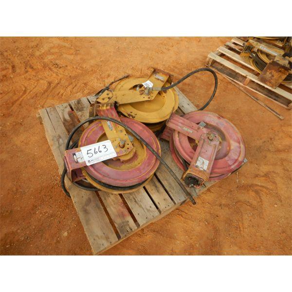 (3) hose reel w/hose