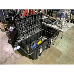 HUSKY MOBILE TOOL BOX WITH ASSORTED HAND TOOLS & CONTENTS
