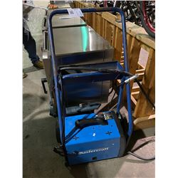 MASTERCRAFT MIG / FLUX-CORE WIRE FEED PORTABLE ELECTRIC WELDER ON MOBILE CART