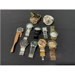 BAG OF ASSORTED DESIGNER LARGE STYLE WATCHES