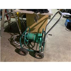 METAL MOBILE HOSE REEL WITH HOSE & NOZZLE