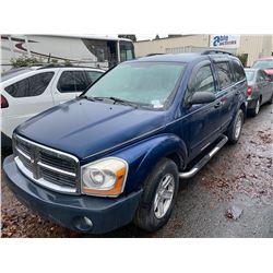 2004 DODGE DURANGO, SLT, 4DR SUV, BLUE, VIN # 1D4HB48N94F207352