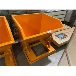 NEW ORANGE MANUAL DUMPING FORKLIFT DISPOSAL BIN