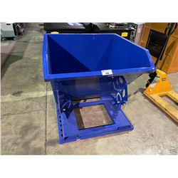 NEW BLUE MANUAL DUMPING FORKLIFT DISPOSAL BIN