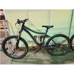 GREY NORCO 18 - SPEED FULL SUSPENSION MOUNTAIN BIKE WITH FULL DISC BRAKES (BACK TIRE FLAT)