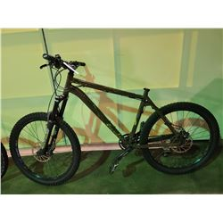 BROWN NORCO 24 - SPEED FRONT SUSPENSION MOUNTAIN BIKE WITH FULL DISC BRAKES (MISSING SEAT)