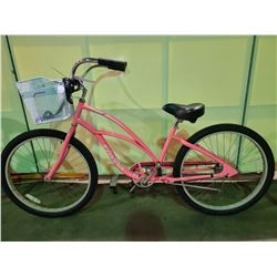 PINK ELECTRA SINGLE SPEED CRUISER BIKE