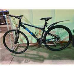 BLACK GT AGGRESSOR 24 - SPEED FRONT SUSPENSION MOUNTAIN BIKE WITH FULL DISC BRAKES (CHAIN TANGLED