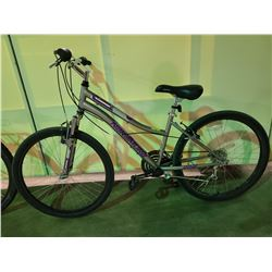 SILVER NAKAMURA INSPIRE 18 - SPEED FRONT SUSPENSION MOUNTAIN BIKE