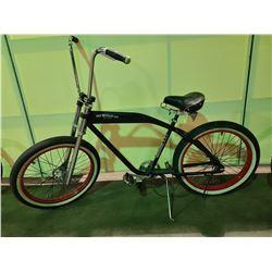 BLACK FELT BICYCLES LLC SINGLE SPEED CRUISER STYLE BIKE ( CHAIN OFF NO BACK SPROCKET )
