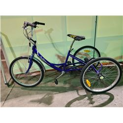 BLUE PARKLANE 5 - SPEED TRI-CYCLE ( FRONT BRAKE DISCONNECTED)