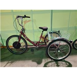 RED FIORI PARKLANE 6 - SPEED TRI-CYCLE WITH ELECTRIC HUB ( HUB DISCONNECTED NO BATTERY )