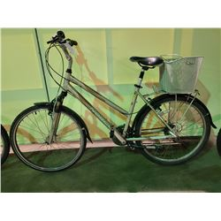 2 BIKES - SILVER NORCO 24 - SPEED FRONT SUSPENSION  HYBRID & PINK COLUMBIA 6 - SPEED FRONT