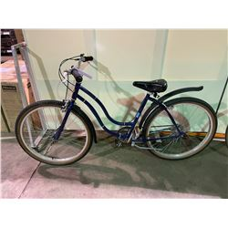 2 BIKES - BLUE NORCO 5 - SPEED CRUISER BIKE & BLUE NO NAME 10 - SPEED ROAD BIKE