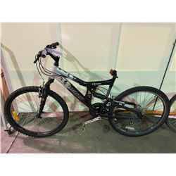 2 BIKES - BLACK INFINITY 24 - SPEED FULL SUSPENSION MOUNTAIN BIKE ( NO SEAT ) & BLACK DIAMONDBACK