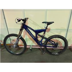 BLUE NO NAME 8 - SPEED FULL SUSPENSION MOUNTAIN BIKE WITH FULL DISC BRAKES