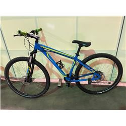 BLUE SPECIALIZED HARDROCK 24 - SPEED FRONT SUSPENSION MOUNTAIN BIKE WITH FULL DISC BRAKES ( MISSING