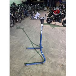 PARK TOOL USA BIKE REPAIR STAND & PALLET OF GT / SUPERCYCLE BIKE FRAMES, PARTS & STROLLER PARTS