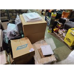 PALLET OF ASSORTED ACCESS DOORS & ELECTRICAL PRODUCTS