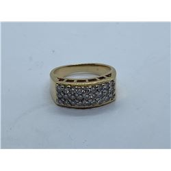 14K LADIES RING WITH DIAMONDS REPLACEMENT VALUE 1950.00