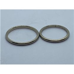 2-18K WEDDING RINGS REPLACEMENT VALUE 550.00