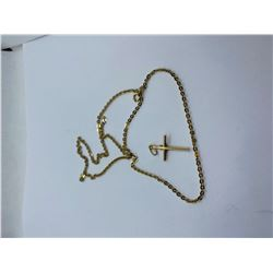"""18K-24"""" CHAIN WITH 10K CROSS PENDANT REPLACEMENT VALUE 975.00"""
