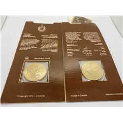 2- 1976 MONTREAL OLYMPICS $100  1/4 OZ GOLD COINS