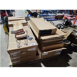 PALLET OF ASSORTED METRO RACK SHELVING & PARTS