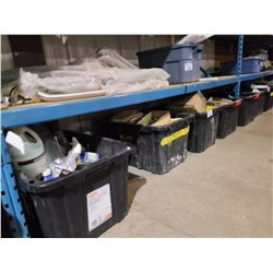 4 LARGE BINS OF CHEMICALS & HARDWARE