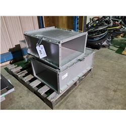 PALLET OF INDUSTRIAL DUCT VENTILATION SYSTEM PARTS