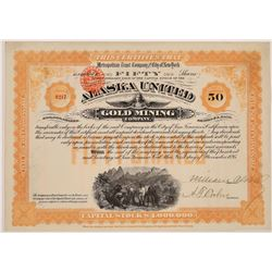 Alaska United Gold Mining Co. Stock Certificate--Uncancelled  (126017)