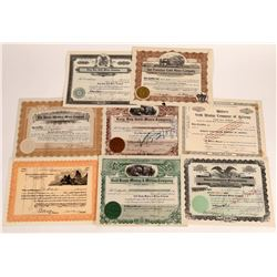 Eight Different Oatman, Arizona Mining Stock Certificates  (109266)