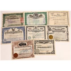 Eight Different Oatman, Arizona Mining Stock Certificates  (109267)