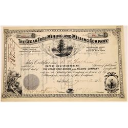 Cedar Tree Mining and Milling Co. Stock Certificate  (113806)