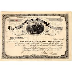 Silver Queen Mining Company Stock Certificate  (109243)