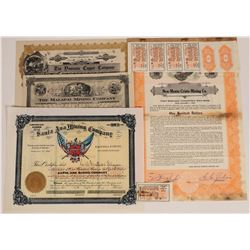 Four Different Arizona Mining Stock Certificates  (109295)