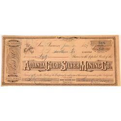 Addenda Silver & Gold Mining Company Stock, Bodie, California   (123543)