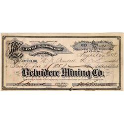 Belvidere Mining Company Stock, Bodie, Mono County  (123541)