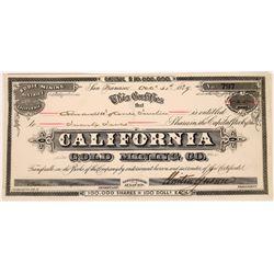 California Gold Mining Company Stock  (123533)