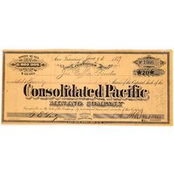 Consolidated Pacific Mining Company Stock  (123532)